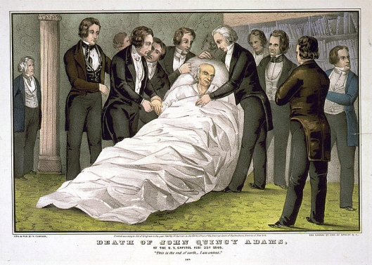 Currier & Ives depiction of death of John Quincy Adams. Library of Congress