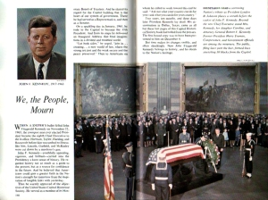 The U.S. Capitol Historical Society delayed publication of the first edition of its Capitol guidebook to include coverage of Kennedy's lying in state.